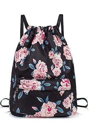 TOPERIN Rucksack mit Kordelzug und Blumenmuster