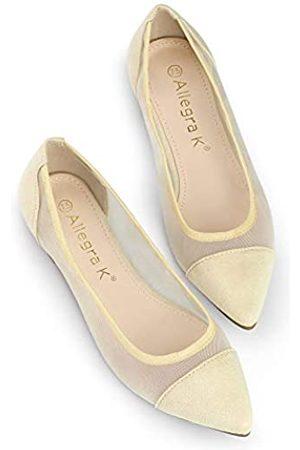 Allegra K Damen Mesh Pointed Toe Slip On Ballerinas