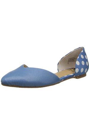 BC Footwear Damen Up All Night Print Ballett Flach, Blau (Hellblau/Punkte)