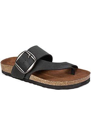 White Mountain Damen Harley Black Size 10 Flache Sandale, /Nubuk