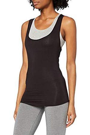 IRIS & LILLY Amazon-Marke: Sporttop Damen Slim Fit und Layering-Look, S