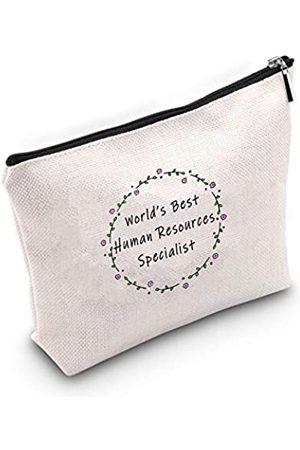"""POFULL Kosmetiktasche mit Aufschrift """"World's Best Human Resources"""""""