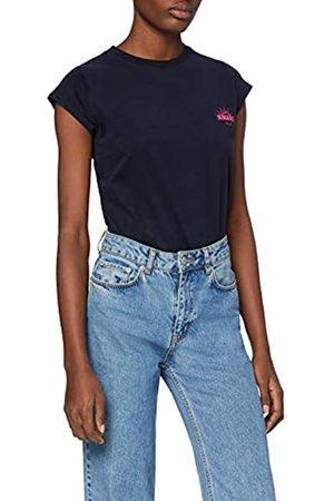 HIKARO Damen T-Shirt mit rundem Ausschnitt, 36