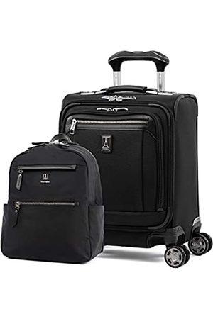 Travelpro Platinum Elite-Softside Erweiterbares Spinnrad-Gepäck-Set, Rucksack-Set, Shadow Black
