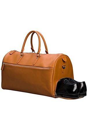 Arcis Men Reisetasche aus echtem Leder mit Schuhfach – Wochenender/Übernachtungstasche zum Mitnehmen