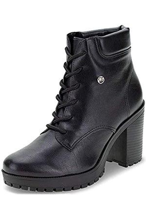 VIA MARTE Damen Combat Boot High Heel Bootie Comfort Style