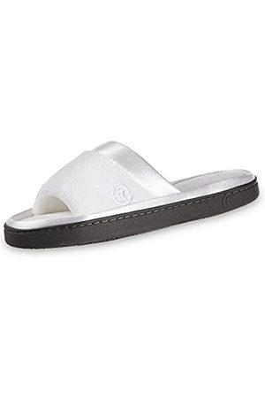 Isotoner Damen MicroTerry Slide Slipper mit Satinbesatz