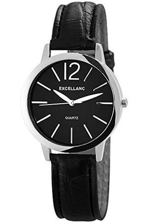 Excellanc Damen Analog Quarz Uhr mit Leder Armband 195021000149