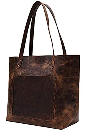 elizo Leather Tote Bag For Women- Large Work Laptop Bag for Women Tote Purse Travel HandBags