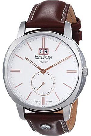 Soehnle Bruno Söhnle Herren-Armbanduhr XL Analog Quarz Leder 17-13146-245
