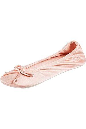 Isotoner Damen Satin Ballerina Pantoffel mit Schleife
