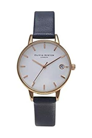 Olivia Burton Damen Analog Quarz Uhr mit Leder Armband OB14WF04