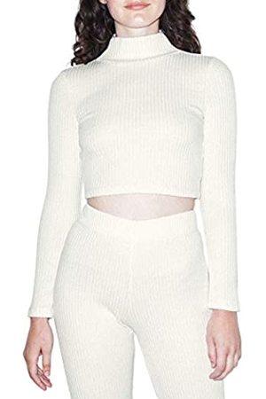 American Apparel Damen Thick Rib Long Sleeve Crop Turtleneck Hemd