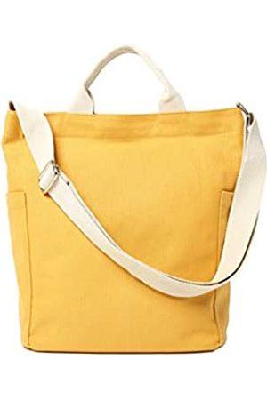 Jeelow Canvas Tote Handtasche Crossbody Schultertasche mit Reißverschluss für Damen und Herren, Gelb (Gelbe Tragetasche)