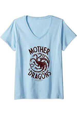 Game of Thrones Damen Mother of Dragons T-Shirt mit V-Ausschnitt