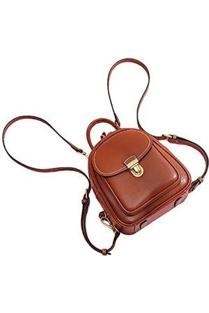 LAORENTOU Mini-Rucksack für Frauen, Spaltleder, kleiner Rucksack für Frauen, Rindsleder, Reiserucksack