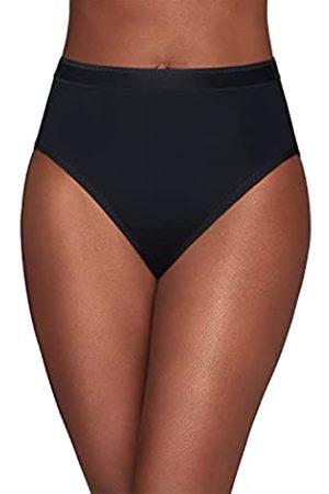 Vanity Fair Damen Comfort Collection Hi Cut Panty 13164 Unterhose, -Midnight Black