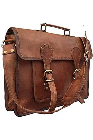 kk's leather KK's 14 Zoll Leder Laptop Taschen Leder Messenger Bags Leder Aktentasche Taschen Leder Ranzen Taschen Leder Bürotaschen Leder Schultaschen Ledertaschen für Damen und Herren