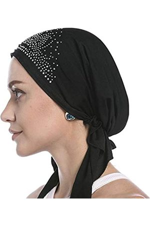IPENNY Chemo Hut mit Kristallfalten, dehnbar, für Damen, Bandana, Turban-Kappe, Ethnischer Kopf, Wickelmütze für Krebspatienten, Alopezie