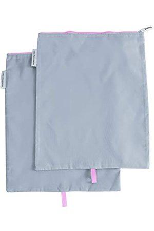 MUMI Schuhbeutel, ideal für Reisen, maschinenwaschbar, leichtes Nylon, 2er-Set, Pink (rose)