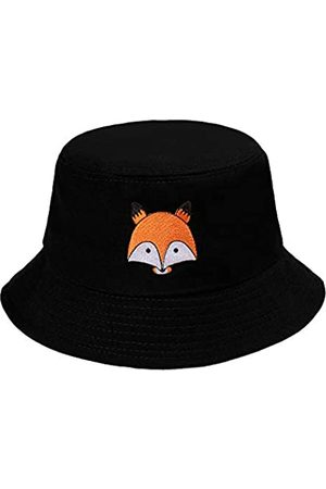 ZLYC Unisex Mode Bestickte Fischerhüte Sommerhut Outdoor-Hut Für Jugendliche (Fuchs )