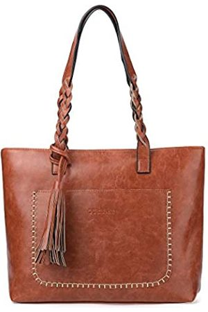 OB OURBAG OURBAG Damen Vintage Tote Bag Damen PU Leder Tote Schultertasche Handtasche Mode Große Kapazität Tasche