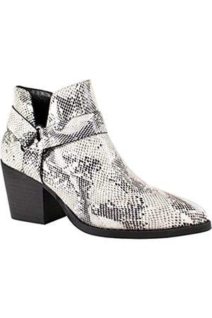 2020 IN Damen Stiefeletten Block Mid Heel Snake Print Western Style Chelsea Boots, ( / )