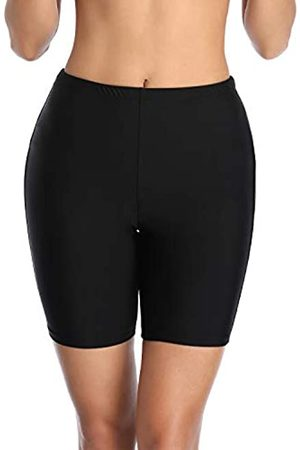 Holipick Badeshorts mit hoher Taille für Damen, Skinny-Board-Shorts
