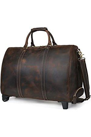 ECOFISH Handgefertigte Reisetasche aus echtem Leder für Herren, Reisetasche, Wochenendtasche