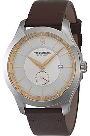 Victorinox Herren Analog Quarz Uhr mit Leder Armband 241767
