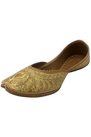 Step N Style Bridal Flats Wedding Shoes Indian Punjabi Jutti Mojari Designer Shoes 9.5US