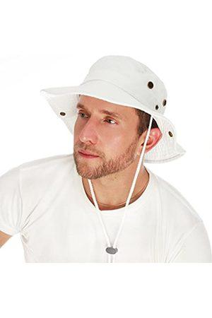 The Hat Depot Sonnenhut mit breiter Krempe, Baumwolle, steingewaschen, faltbar, doppelseitig