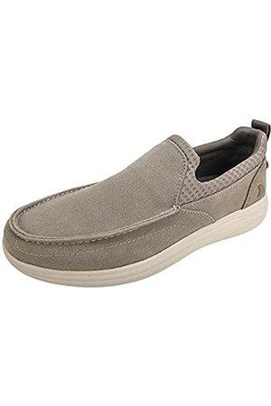 RUGGED SHARK SAN-ROC Komfort-Herrenschuh, bequeme Socken-Fit, Slip-on, Herrengröße 36-47, (taupe)