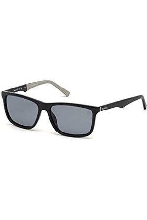Timberland Herren TB9174 Sonnenbrille, Shiny Black/Smoke Polarized