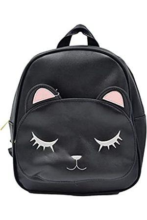 Ecstacy Damen Rucksack Geldbörse PU Leder Fashion Groß & Klein Reisetasche Casual oder Luxuriöse Damen Umhängetasche, (Cat Black)