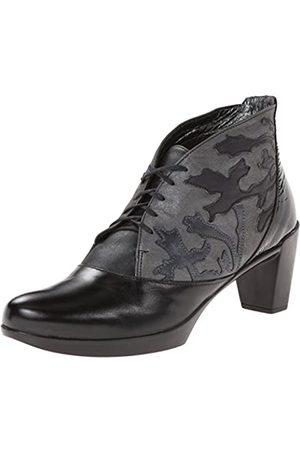 Naot Baccio Damen Stiefel, (Black Madras/Shadow Grey Nubuck)