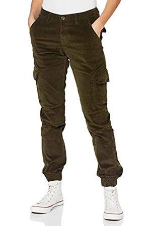 Urban classics Damen Ladies High Waist Cargo Corduroy Pants Hose