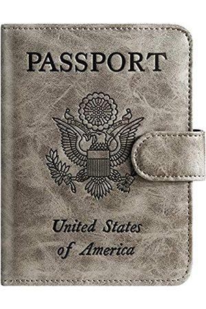 PASCACOO Reisepasshülle, Geldbörse, RFID-blockierendes Leder, Kartenetui