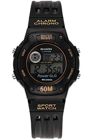 Shaon Herren Digital Quarz Uhr mit Kautschuk Armband 39-6021-64