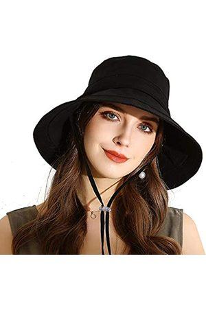URSFUR Damen Sommer Sonnenhut UPF 50+ UV-Schutz Weich Faltbarer Breite Krempe Fischerhut Baumwolle