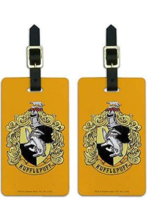 Graphics and More Harry Potter Hufflepuff Gepäckanhänger mit bemaltem Wappen