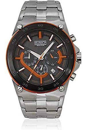 Munich Unisex Erwachsene Analog Quarz Uhr mit Edelstahl Armband MU+138.1B