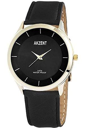 Akzent Herren Analog Quarz Uhr mit Verschiedene Materialien Armband SS7504000015