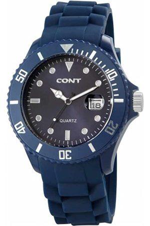 CONT Herren-Armbanduhr XL Analog Quarz Silikon RP3458300004