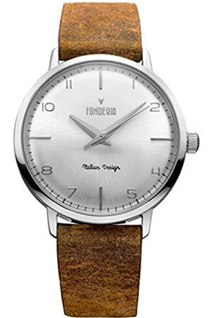 Fonderia Herren Analog Quarz Smart Watch Armbanduhr mit Leder Armband