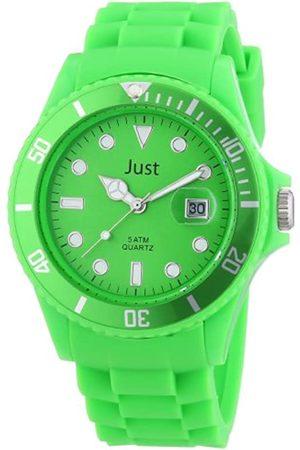 Just Watches Unisex-Armbanduhr Rubber Strap Collection Analog Quarz Silikon 48-S5457-GR