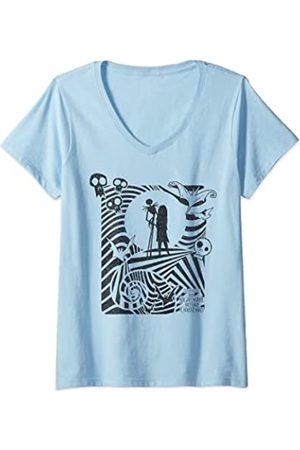 The Nightmare Before Christmas Damen Hypnotic Jack And Sally T-Shirt mit V-Ausschnitt