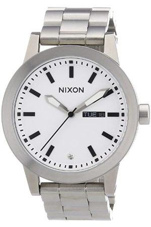 Nixon Unisex-Armbanduhr The Spur White Analog Quarz Edelstahl A263100-00