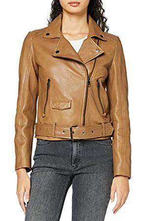 HUGO BOSS Womens Jareca Leather Jacket