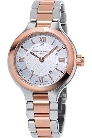 Frederique Constant Damen Analog Swiss Automatic Uhr mit Edelstahl Armband FC-281WH3ER2B